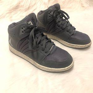 NIKE Jordan 1 Flight 4 Premium BG Gray Sneakers